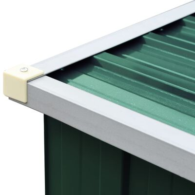 vidaXL Puuvaja galvanoitu teräs 330x84x152 cm vihreä