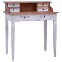 vidaXL Kirjoituspöytä vetolaatikoilla 90x50x101 cm kierrätetty puu