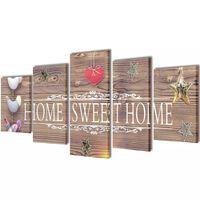 Taulusarja Home Sweet Home 100 x 50 cm
