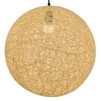 vidaXL Roikkuva lamppu kerma pallo 45 cm E27