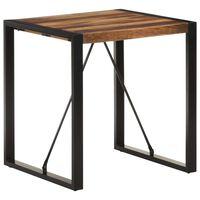 vidaXL Ruokapöytä 70x70x75 cm täysi akaasiapuu seesamviimeistelyllä