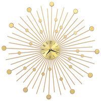 vidaXL Seinäkello metalli 70 cm kultainen