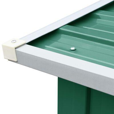 vidaXL Puuvaja galvanoitu teräs 330x92x153 cm vihreä