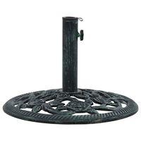 vidaXL Päivänvarjon alusta vihreä 9 kg 40 cm valurauta