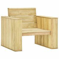 vidaXL Puutarhatuoli 89x76x76 cm kyllästetty mänty