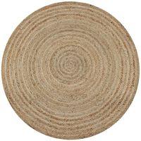 vidaXL Pyöreä matto 90 cm punottu juutti