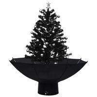vidaXL Lunta satava joulukuusi sateenvarjopohjalla musta 75 cm PVC