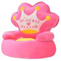 vidaXL Lasten pehmotuoli prinsessa Pinkki