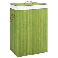 vidaXL Bambu pyykkikori vihreä