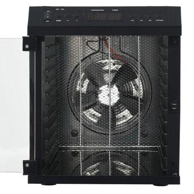 vidaXL Hyötykasvikuivuri 11 tarjottimella ruostumaton teräs 480W musta