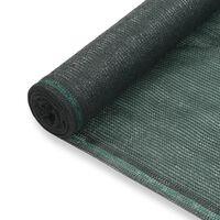 vidaXL Tenniskentän suojaverkko HDPE 1,8x50 m vihreä