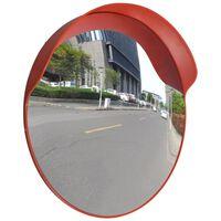 vidaXL Kupera liikennepeili ulkokäyttöön PC-muovi 60 cm oranssi