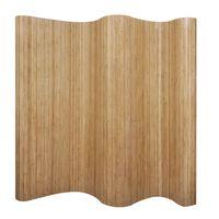 vidaXL Tilanjakaja bambu luonnollinen  250x165 cm