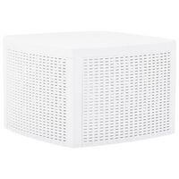 vidaXL Sivupöytä valkoinen 54x54x36,5 cm muovi