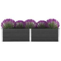 vidaXL Puutarhan korotettu kukkalaatikko 250x50x54 cm WPC harmaa