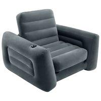 Intex Avattava tuoli 117x224x66 cm tummanharmaa