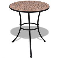 vidaXL Bistropöytä terrakotta 60 cm mosaiikki
