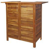 vidaXL Baaripöytä 110x50x105 cm akaasiapuu