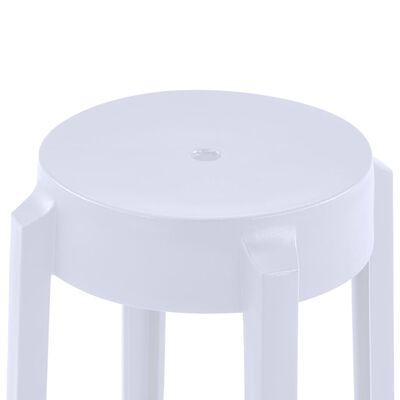 vidaXL Pinottavat jakkarat 4 kpl valkoinen muovi