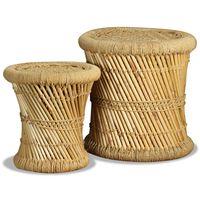 vidaXL Jakkarat 2 kpl bambu ja juutti