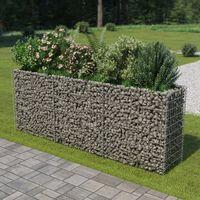 vidaXL Korotettu kivikori/kukkalaatikko galvanoitu teräs 270x50x100 cm