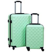vidaXL Kovapintainen matkalaukkusetti 2 kpl mintunvihreä ABS