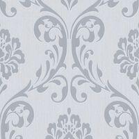vidaXL Kuitutapettirullat 2 kpl valkoinen 0,53x10 m ornamentti