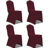 vidaXL Venyvät tuolinsuojat 4 kpl Viininpunainen