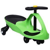vidaXL Ajettava leluauto kääntökahvalla ja torvella vihreä