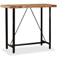 vidaXL Baaripöytä kierrätetty puu 120x60x107 cm