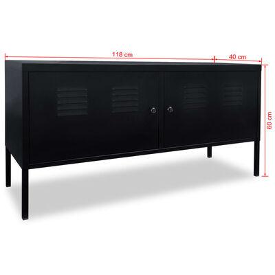 vidaXL TV-taso 118x40x60 cm Musta
