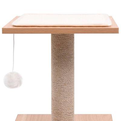 vidaXL Kissan kiipeilypuu sisal-raapimismatolla 62 cm