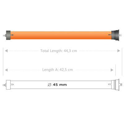 vidaXL Putkimoottorit 5 kpl 20 Nm