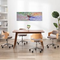 vidaXL Kanvaasitaulusarja variseva puu monivärinen 120 x 40 cm
