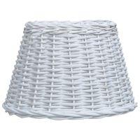vidaXL Lampunvarjostin paju 45x28 cm valkoinen