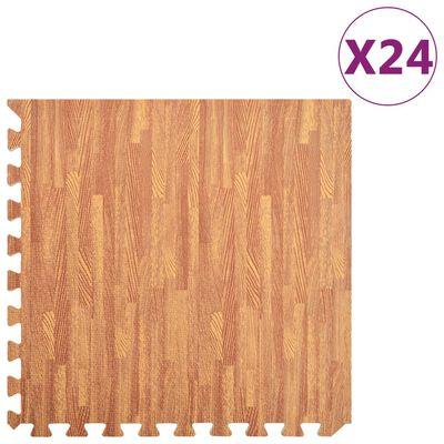 vidaXL Lattiamatot 24 kpl 8,64 ㎡ EVA-vaahto puukuviot