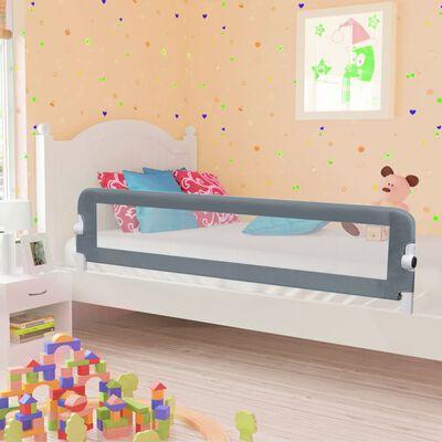 vidaXL Turvalaita sänkyyn polyesteri 180x42 cm harmaa, Harmaa