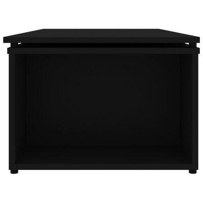 vidaXL Sohvapöytä musta 150x50x35 cm lastulevy
