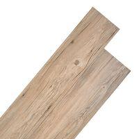 vidaXL PVC-lattialankut 4,46 m² 3 mm tammenruskea
