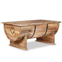 vidaXL Sohvapöytä Täysi mangopuu 88x50x40 cm