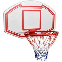 vidaXL Seinään kiinnitettävä koripallon korisarja 3 osaa 90x60 cm