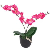vidaXL Tekokukka ruukulla orkidea 30 cm punainen