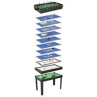 vidaXL 15-in-1 monen pelin pöytä 121x61x82 cm musta