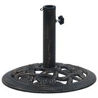 vidaXL Päivänvarjon alusta musta ja pronssi 9 kg 40 cm valurauta
