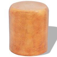 vidaXL Vasaroitu alumiininen jakkara/sivupöytä Väri: messinki/kupari