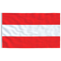 vidaXL Itävallan lippu 90x150 cm