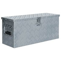 vidaXL Alumiinilaatikko 76,5x26,5x33 cm hopea