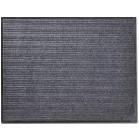 Harmaa PVC Ovimatto 90 x 120 cm