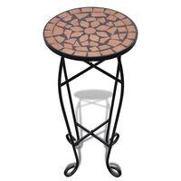 vidaXL Sivupöytä/kasviteline mosaiikki terrakotta