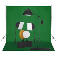 vidaXL Valokuvastudiosarja softbox-valot, taustakangas ja heijastin